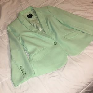 Jackets & Blazers - The Limited Sea foam Green Blazer